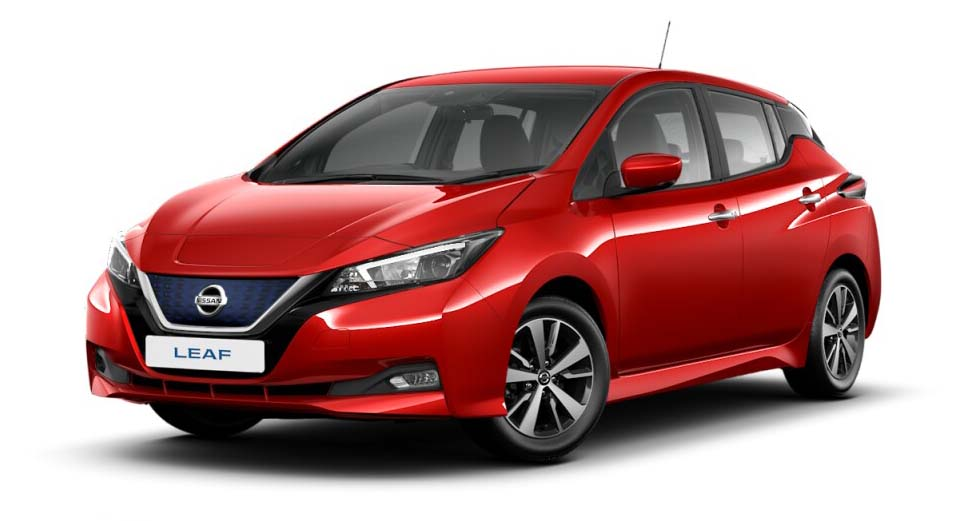 Nissan Leaf - Available In Flame Red