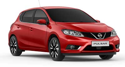 Nissan Pulsar - Available In Flame Red