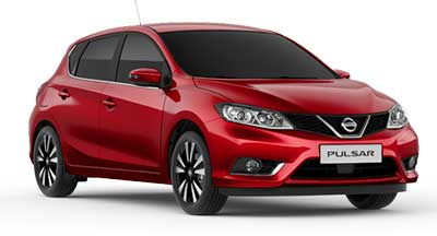 Nissan Pulsar - Available In Force Red